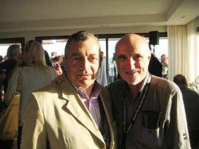 Philippe Mora and Alan Finney at Cannes 2011