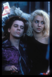 Beautiful and doomed: Michael Hutchence and Saskia Post in 'Dogs in Space'.