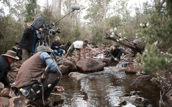 The joys of location shooting in the Tasmanian wilderness.