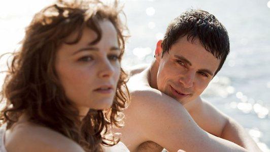 Bojana Novakovic and Matthew Goode in 'Burning Man'.