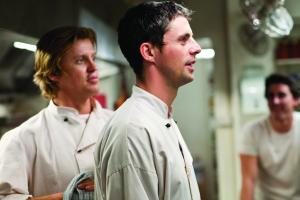 Cooking up a storm - Dan Wyllie and Matthew Goode in 'Burning Man'.