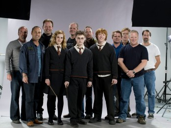 Adam with the Harry Potter cast and crew