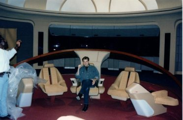 Howard on the set of Star Trek The Next Generation