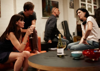Jess with Essie Davis onset of THE SLAP, photograph by Ben King