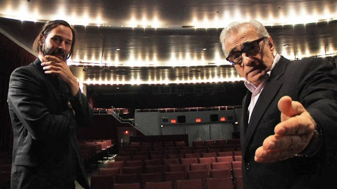 Keanu Reeves and Martin Scorsese in SIDE BY SIDE