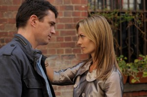 Matt Day and Kat Stewart having a moment in Tangle.